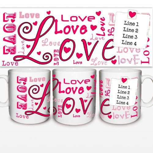 Personalised Lots of Loves Mug